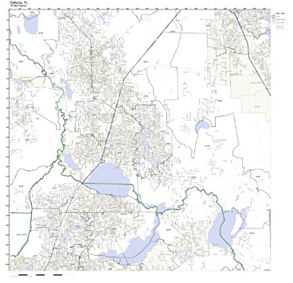 Amazon.com: Deltona, FL ZIP Code Map Not Laminated: Home ...