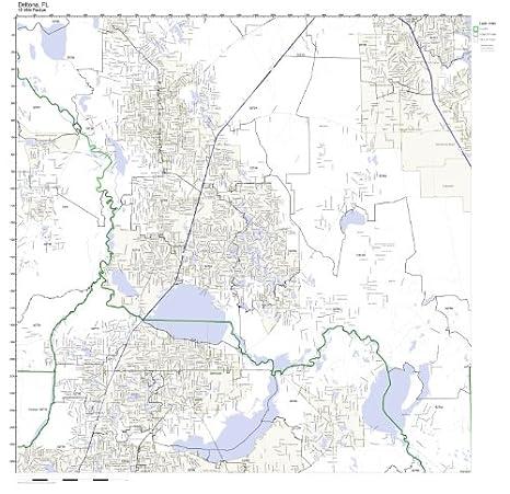 Amazon.com: Deltona, FL ZIP Code Map Not Laminated: Home & Kitchen