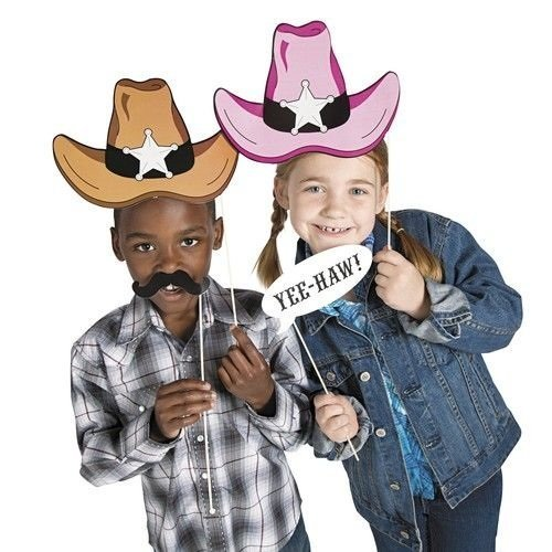 [Cardboard Western Accessories Costume Stick Props (2-Pack of 12)] (Rootin Tootin Cowgirl Costume)