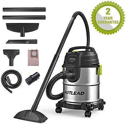 Autlead WD02A - Aspirador de agua y polvo, 20 L, 1000 W, multiusos ...