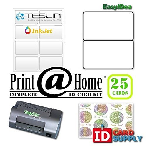Complete Print @ Home Kit | Makes 25 PVC Like ID Cards | for InkJet Printers