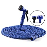 Expandable Garden Hose,75ft Expanding Garden Hose Flexible Pressure Washer Water Hose with 7 Pattern Function Watering Nozzle for Car Wash Cleaning Watering Lawn Garden Plants