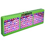 MarsHdyro Reflector144 Led Grow Light with 317W True Watt for Hydroponic Indoor Garden and Greenhouse Full Spectrum Veg and Bloom Switches added