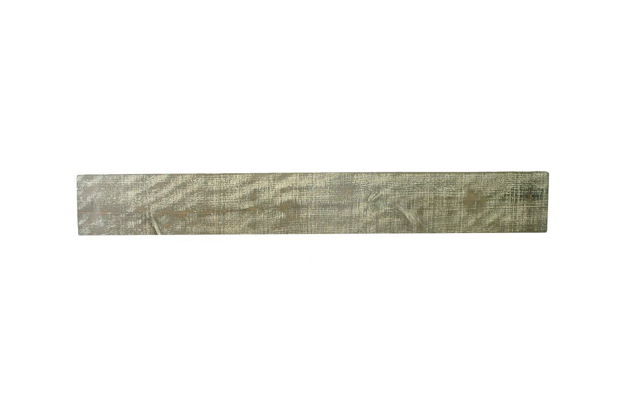 New England Classic 10'' Deep x 48'' Long Nantucket Rustic Wood Mantel Shelf Beach House Gray by New England Classic