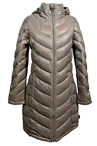 Calvin Klein Lightweight Packable Down Quilted Puffer Coat (Small, Taupe)]()