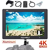 FEELWORLD T7 7 Inch IPS On-camera Monitor with 4K HDMI In/Output Loop-out, Solid Aluminum Housing, Video Assist 1920 x 1200 Full HD Field Monitor for DSLR with Histogram Peaking