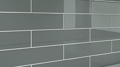 Ardesia grigio piastrelle di vetro. perfetto per bagni e cucine