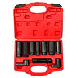 Automotive : 8milelake 10pcs Oxygen Sensor Socket Set Sensor Oil Pressure Sending Unit Socket Set