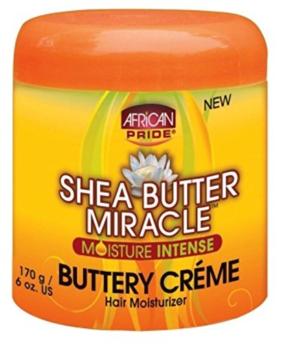 African Pride Shea Butter Miracle Buttery Creme 6 Ounce Jar (177ml) (2 ()