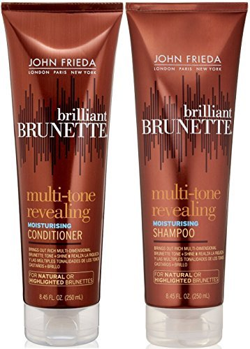 John Frieda Brilliant Brunette Multi-tone Revealing Color Protecting Duo set Shampoo + Conditioner, 8.45 Ounce, 1 Each