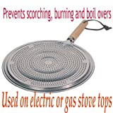 Ring Aluminum Heat Diffuser with Wood Handle