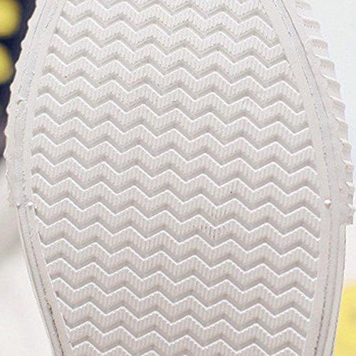 rotonda bianco Colore 5 traspirante punta Scarpe CN40 tela UK6 confortevole dimensioni nero piatta casual scarpe EU39 Bianca NAN donna di rosso Nero scarpetta da mezza estiva Unw7Oxg