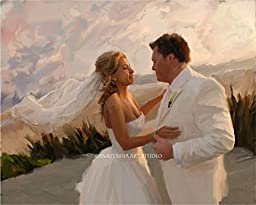 Personalized Wedding Gift - Custom Wedding Portrait On Canvas From Photo
