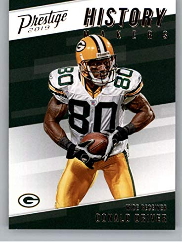 2019 Prestige History Makers Football #7 Donald Driver Green Bay Packers Official NFL Trading Card From Panini America