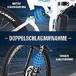 Vivi-26-Bicicletta-elettrica-350W-Bicicletta-elettrica-Pieghevole-Bicicletta-elettrica-Pieghevole-AdultoBatteria-Rimovibile-36V-8AH-Bici-elettrica-Donna-21-velocita-Fino-a-32-kmh40-km