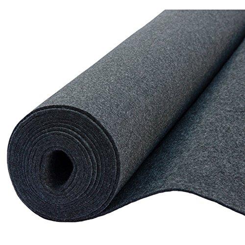 Filz, Filzstoff, Dekorationsfilz, imprägniert, Breite 100 cm, Dicke 4 mm, Meterware 0,5 lfm - graphit