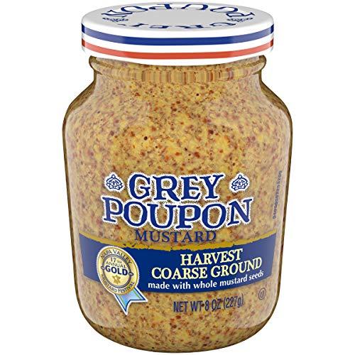 - Grey Poupon Harvest Coarse Ground Dijon Mustard, 8.0 oz Jar