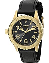 Nixon Womens 38-20 Leather Quartz Stainless Steel and Black Leather Casual Watch (Model: A467513-00)