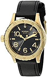 Nixon Women's 38-20 Leather Quartz Stainless Steel and Black Leather Casual Watch (Model: A467513-00)