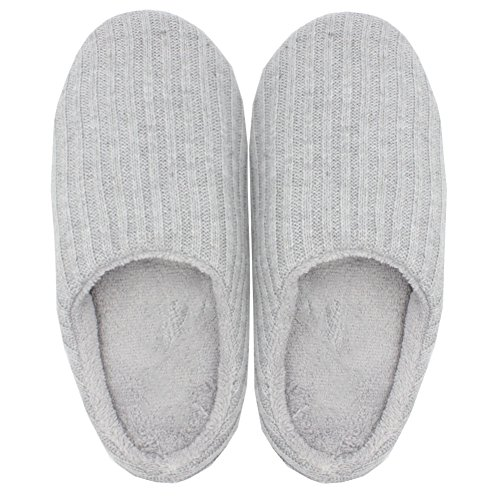Pantofole Lavra In Eco-pelliccia Lavorate Di Grigio