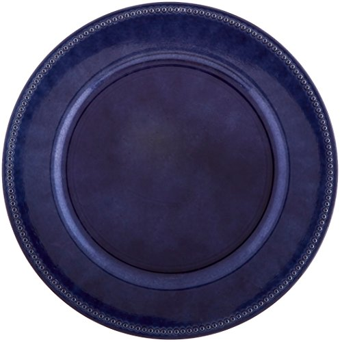 ChargeIt by Jay 1270168 Beaded Charger Plate, Royal Blue