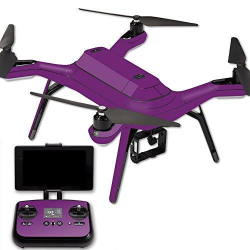 MightySkins Protective Vinyl Skin Decal for 3DR Solo Drone Quadcopter wrap Cover Sticker Skins Solid Purple