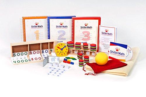 ShillerMath Kit I Basic - Homeschool Montessori Curriculum - (Pre-K to 3rd (Enh Kit)