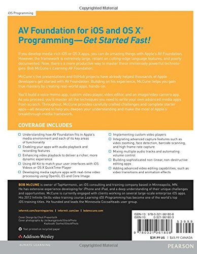 Learning AV Foundation: A Hands-on Guide to Mastering the AV