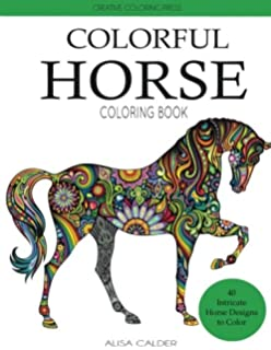 Amazon.com: Horse Coloring Book: Coloring Stress Relief Patterns for ...