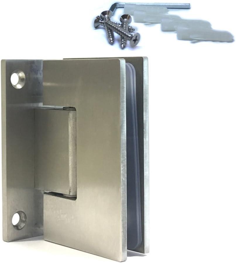 Cristal bisagras 90° orientable Vidrio Puerta de ducha cierre automático acero inoxidable 6–12,5