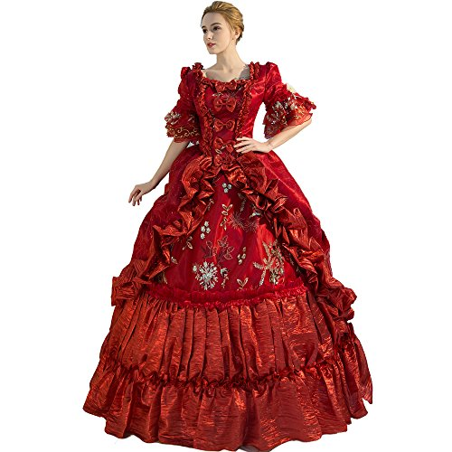 XNAIHUAFEI Women's Satin Costumes 18th Century Evening Dress Size US (18th Century Costumes Gowns)