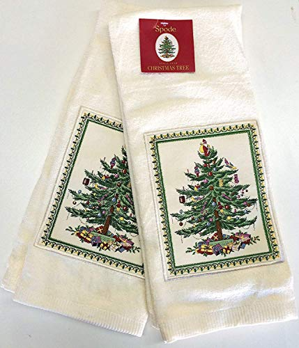 Spode Christmas Tree Kitchen Towel - Set of 2 (Red Tree)