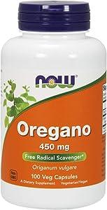 NOW Supplements, Oregano (Origanum vulgare) 450 mg, Free Radical Scavenger*, 100 Veg Capsules