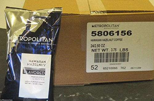 Hazelnut Coffee Hawaiian Flavored - Metropolitan Hawaiian Hazelnut Ground Coffee (24/2.5 oz)