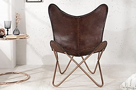 Casa Padrino Echleder Designer Sessel Braun Relax Leder Stuhl