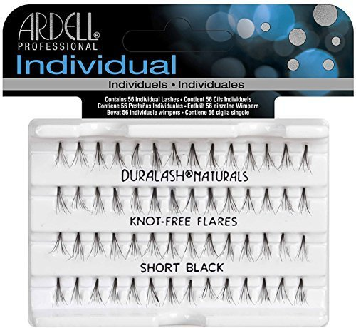 Ardell DuraLash Naturals Flare Individual Lashes, Short Black 56 ea (Pack of 12) Ardell Individual Eyelashes Flare