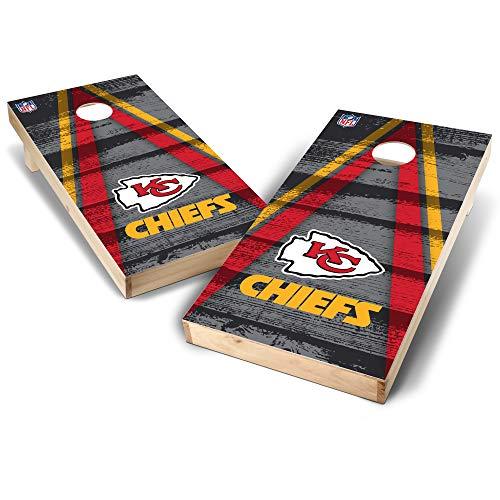 - NFL Kansas City Chiefs Vintage Triangle Design 2' x 4' Authentic Cornhole Game Set, Team Color, 2' x 4'
