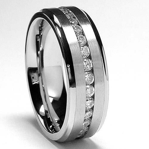 ... Metal Masters Co 7MM Men S Eternity Titanium Ring Wedding Band