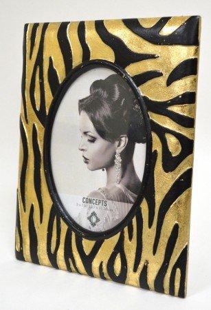 (Concepts 5X7 Black Gold Stripe Tiger Picture Frame Modern Vintage Design Decor)