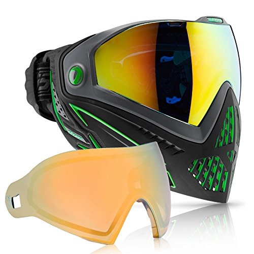 Dye i5 Paintball Goggle (Emerald with Faded Sunrise Thermal Lens Combo) by Dye