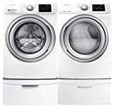 high capacity front load washer - Samsung- High-Efficiency Front-Loading Laundry Featuring 4.2 CF Washer with Steam and Matching ELECTRIC 7.4 CF Dryer with Steam *Plus* Matching Storage Pedestals(WF42H5200AW+DV42H5200EW+WE357AW X 2)