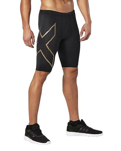 2XU Men's Elite MCS Compression Shorts, Black/Gold, Small