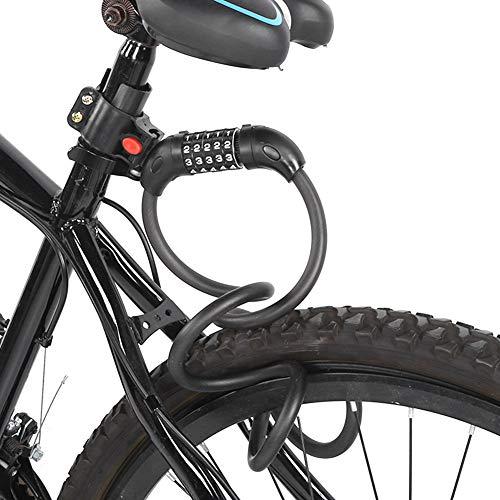 SunshineFace 1. 5M Draagbaar Anti-Diefstal Strip Slot Schijfremslot Vijfcijferig Wachtwoord Voor Mountainbike