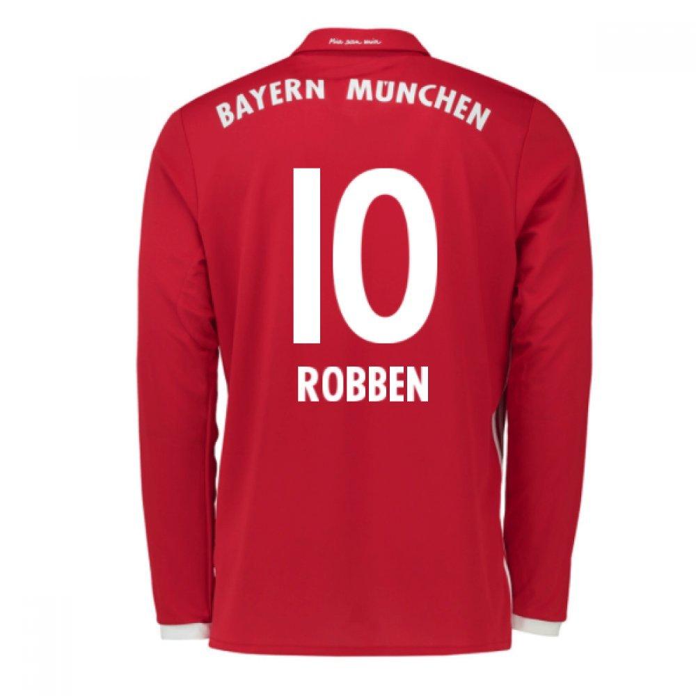 2016-17 Bayern Munich Long Sleeve Home Football Soccer T-Shirt Trikot (Arjen Robben 10) - Kids