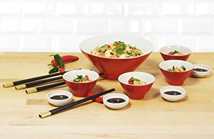 21 Piece Chinese Dinner Party Set Amazon Co Uk Kitchen Home