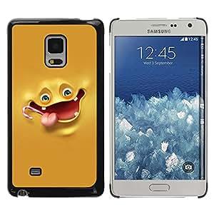 Be Good Phone Accessory // Dura Cáscara cubierta Protectora Caso Carcasa Funda de Protección para Samsung Galaxy Mega 5.8 9150 9152 // Yellow Banana Character Laugh