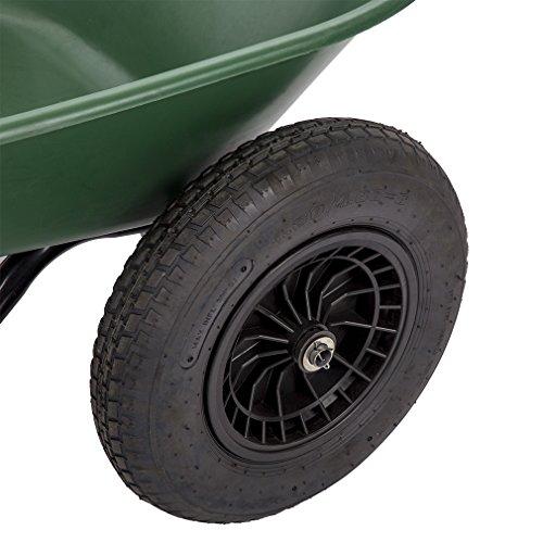 BestMassage Flat Free Yard Garden Rover Wheelbarrow,2 Tire Wheelbarrow Garden Cart by BestMassage (Image #3)