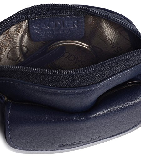 SADDLER Womens Leather Zip Top Coins Key Purse Front Flap Pocket - Peacoat Blue by Saddler (Image #3)'