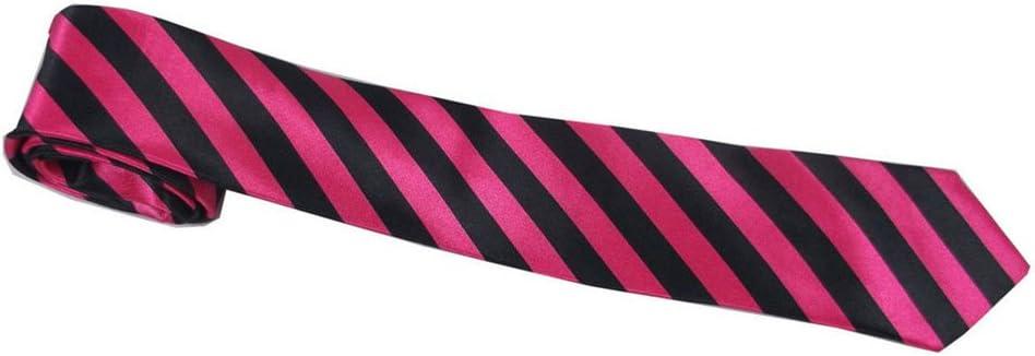 Striped Tie Fancy Dress Accessories Hen Night Party School Girls Geek Neon Pink