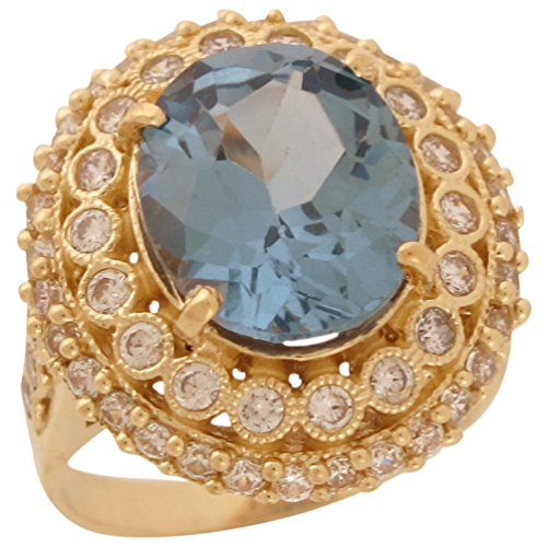 14k Gold White CZ Simulated Bi